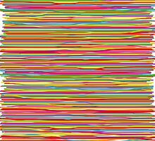 Abstract freehand lines of all colors  by silvianna