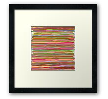 Abstract freehand lines of all colors  Framed Print