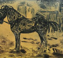 Steampunk Stallion by lyndseyart