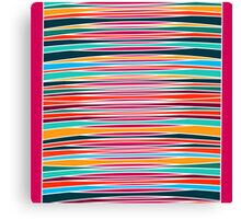 Colorful abstract lines pattern  Canvas Print