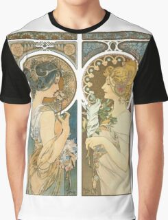 """Primrose and Feather"", by Alphonse Mucha (1899). Graphic T-Shirt"