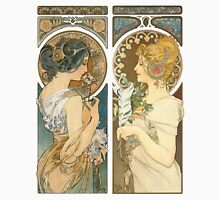 """""""Primrose and Feather"""", by Alphonse Mucha (1899). T-Shirt"""