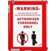Authorized Fursonnel iPad Case/Skin