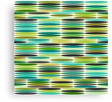 Green and turquoise vintage abstract pattern  Canvas Print