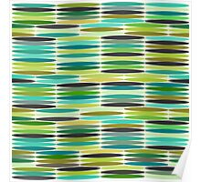 Green and turquoise vintage abstract pattern  Poster