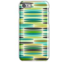 Green and turquoise vintage abstract pattern  iPhone Case/Skin