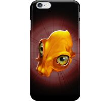 Spooky Yellow Skull with evil Look iPhone Case/Skin