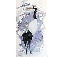 Japanese Crane and Thread Photographic Print