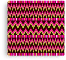 Abstract pink zigzag pattern  Canvas Print