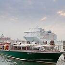 Huge Liner at Venice, Italy by SteveHphotos