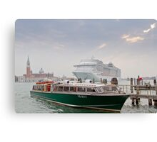 Huge Liner at Venice, Italy Canvas Print