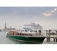 Huge Liner at Venice, Italy Photographic Print