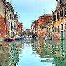 Venetian canal scene by SteveHphotos