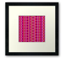 Pink retro tiles  Framed Print