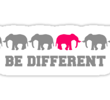 Elephants Be Different Sticker