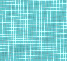 Blue Crosshatch by kwg2200