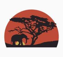 Elephant At Sunset In Africa by Style-O-Mat