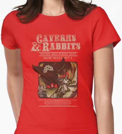Caverns & Rabbits Womens Fitted T-Shirt