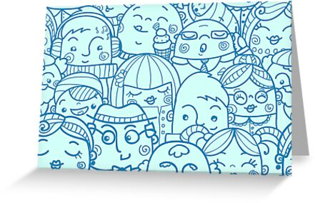 People in crowd pattern by oksancia