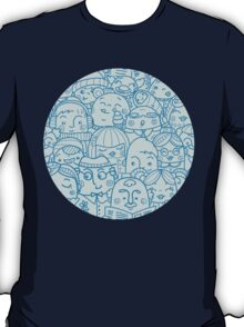 People in crowd pattern T-Shirt