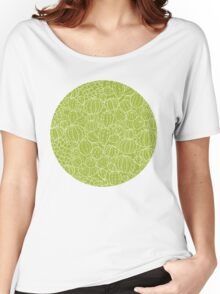 Cactus plants texture pattern Women's Relaxed Fit T-Shirt