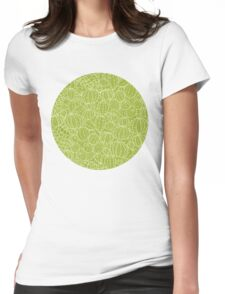 Cactus plants texture pattern Womens Fitted T-Shirt