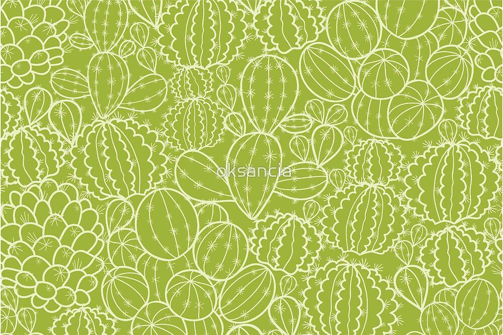 Cactus plants texture pattern by oksancia