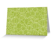 Cactus plants texture pattern Greeting Card