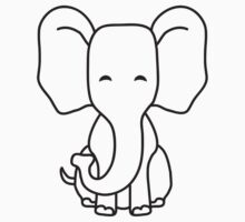 Cute Sitting Elephant Child by Style-O-Mat