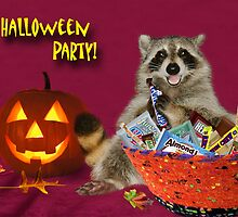Halloween Party Raccoon by jkartlife