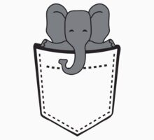 Cute Elephant Child In Breast Pocket by Style-O-Mat