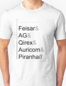 Wipeout XL/2097 Roster Shirt (Feisar&AG&Qirex&Auricom&Piranha) T-Shirt