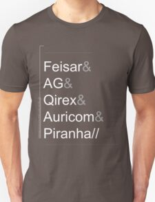 Wipeout XL/2097 Roster Shirt WhiteText (Feisar&AG&Qirex&Auricom&Piranha) T-Shirt
