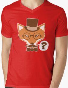 Fox Says What? Mens V-Neck T-Shirt