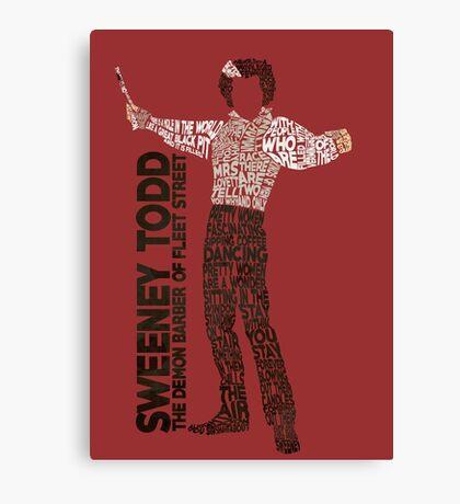 Sweeney Todd - Typography Canvas Print