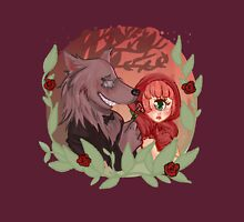 Little Red & Wolf Womens Fitted T-Shirt