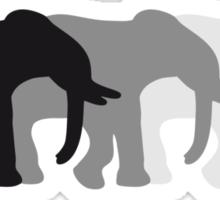 3 Elephants Sticker