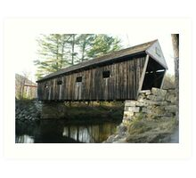 The Lovejoy Covered Bridge Art Print