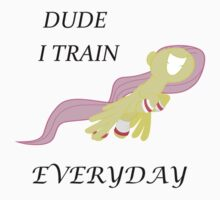 I Train Everyday-Fluttershy by DavidVonderhaar