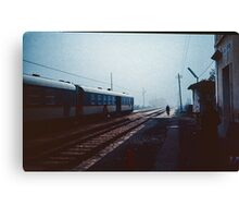 Off to change the points for the night train Greccio 198404080044  Canvas Print