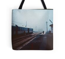 Off to change the points for the night train Greccio 19840408 0044  Tote Bag
