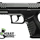 400 FPS Combat Zone Compact Carry CO2 Airsoft Semi-Auto Pistol by airrattle