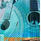 Guitar and Speaker Art by susan stone