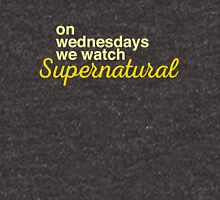 On wednesdays we watch Supernatural Unisex T-Shirt