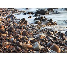 Pebbles at the Beach Photographic Print