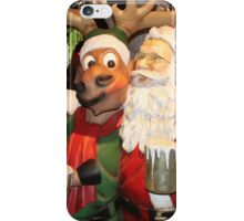 Santa stopping for hot chocolate with his reindeer.... iPhone Case/Skin