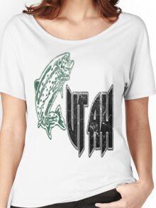 FISH UTAH VINTAGE LOGO Women's Relaxed Fit T-Shirt