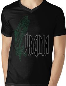 FISH VIRGINIA VINTAGE LOGO Mens V-Neck T-Shirt