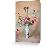 Peas and Verbascum Greeting Card
