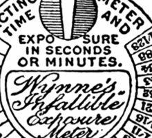 Wynnes Infallible Exposure Meter Sticker